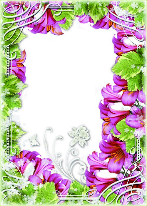 Two Flower frames for a photo.
