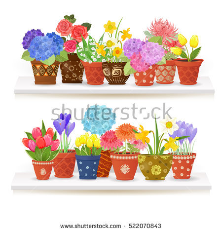 Rose In Pot Stock Vectors, Images & Vector Art.