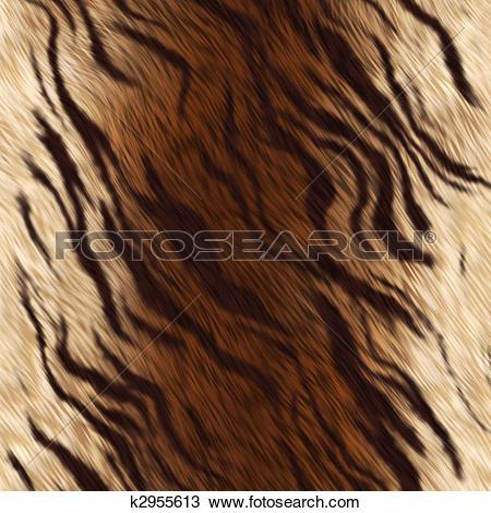 Drawing of Tiger animal skin fur k2955613.