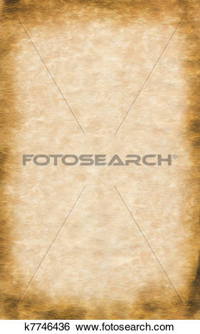 Stock Illustration of Parchment Paper Border k7746436.