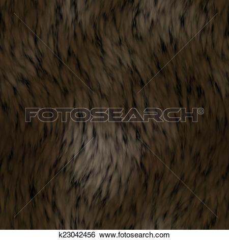 Stock Illustration of brown animal fur texture k23042456.