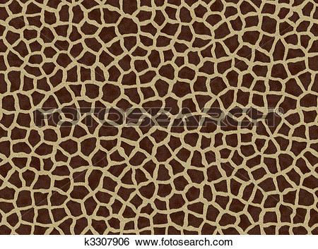 Stock Illustration of giraffe spots, giraffe fur k3307906.