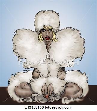 Fur Coat Posters Clipart.