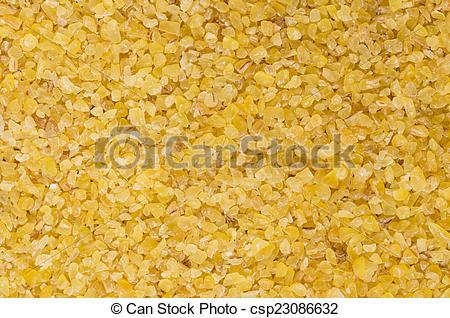 Stock Photos of Raw fine ground burghul wheat.