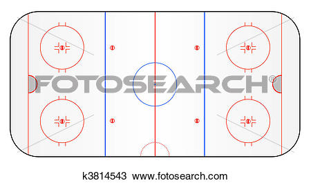 Drawing of Ice hockey ground k3814543.