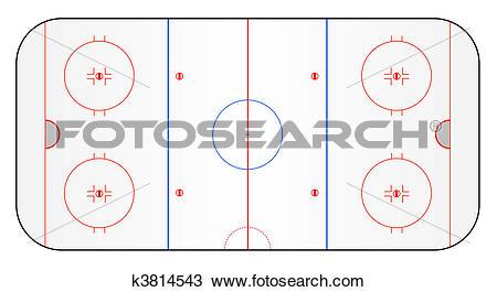 Drawing of Ice hockey ground k3814543.