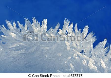 Picture of Collection of fine ice crystal towers.