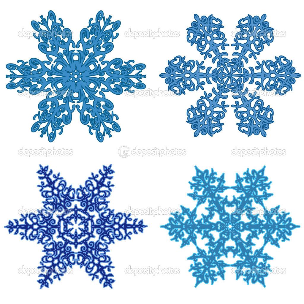 Snow Flakes Clip Art.