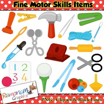 Fine Motor Skills Objects Clip art.