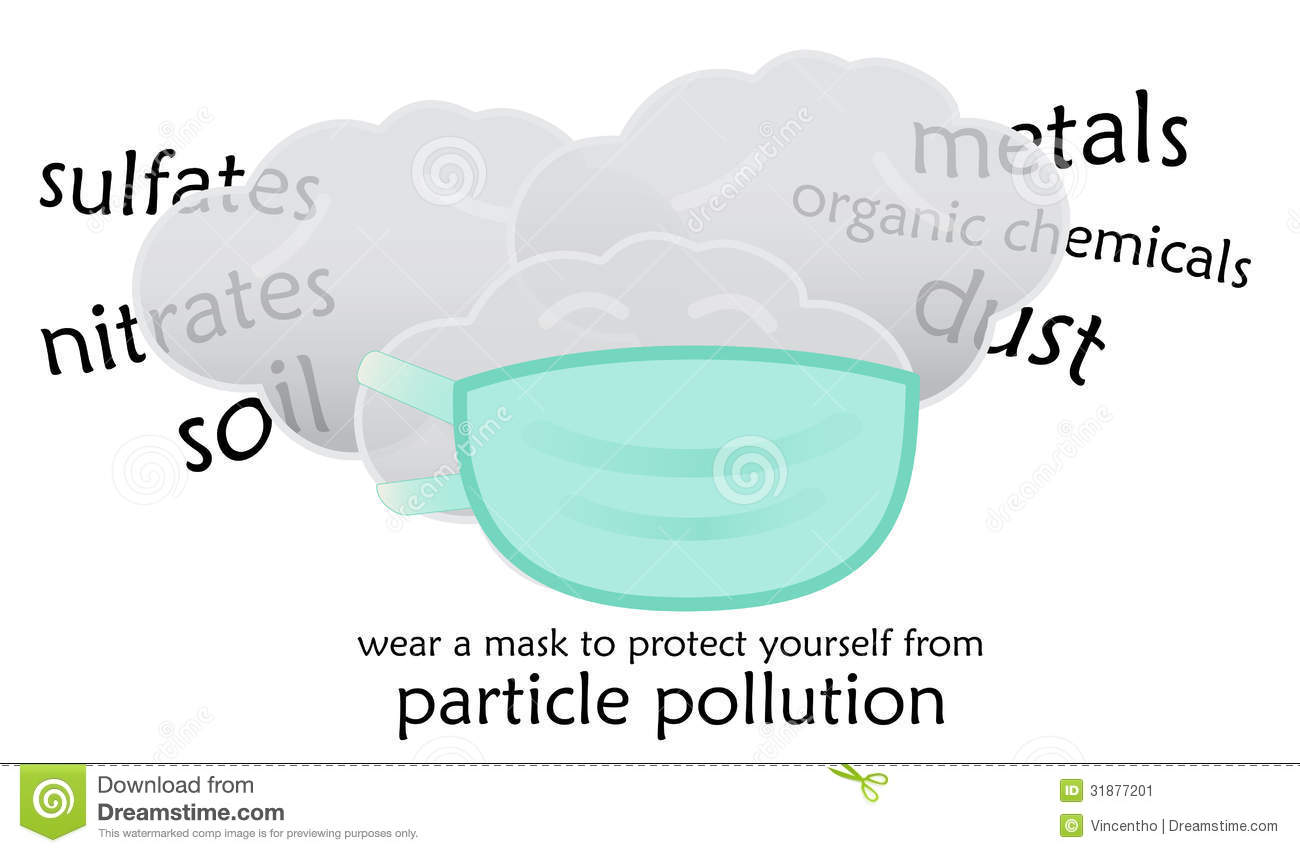 Protect Yourself From Haze Particle Pollution Stock Image.