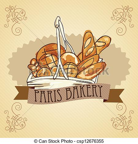 Clipart Vector of Bakery Icons.