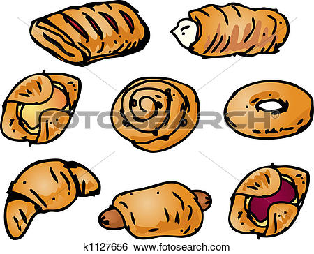 Stock Illustration of Pastries illustration k1127656.
