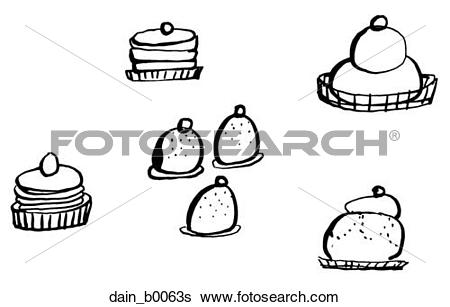 Stock Illustration of Wedding Pastries dain_b0063s.