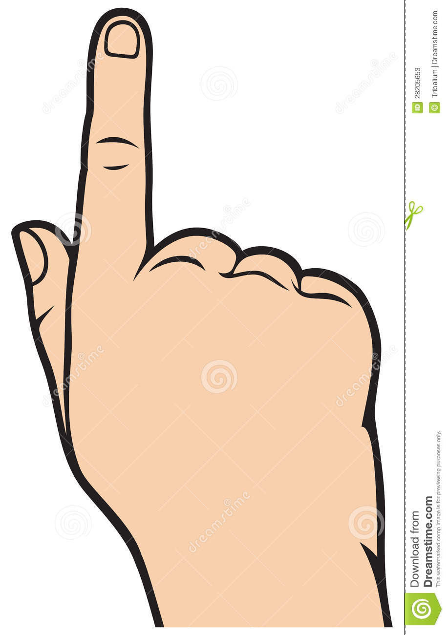 Cartoon Pointing Finger Clipart.