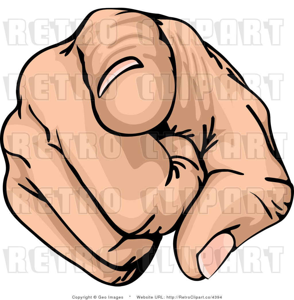 Pointing Finger Clip Art.