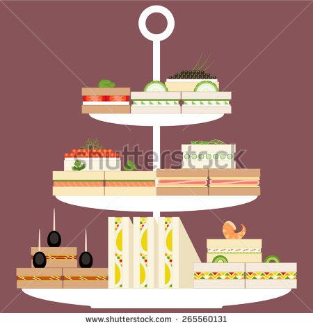 Sandwiches And Finger Food Clipart.