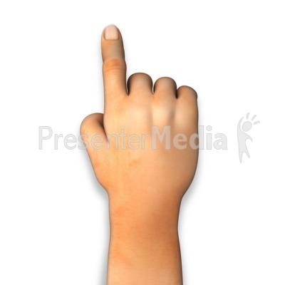 Human Hand Finger Point.