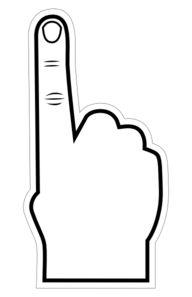 Foam Finger Clip Art.