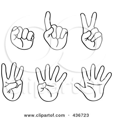 Three Fingers Clipart.