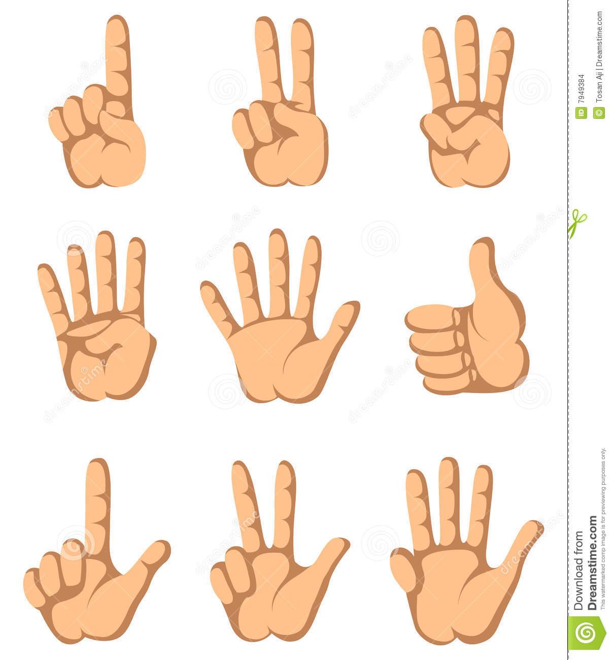 4 Fingers Clipart.