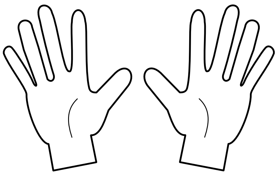 4 Fingers Clipart.