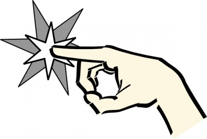 Finger Pointing Clipart.
