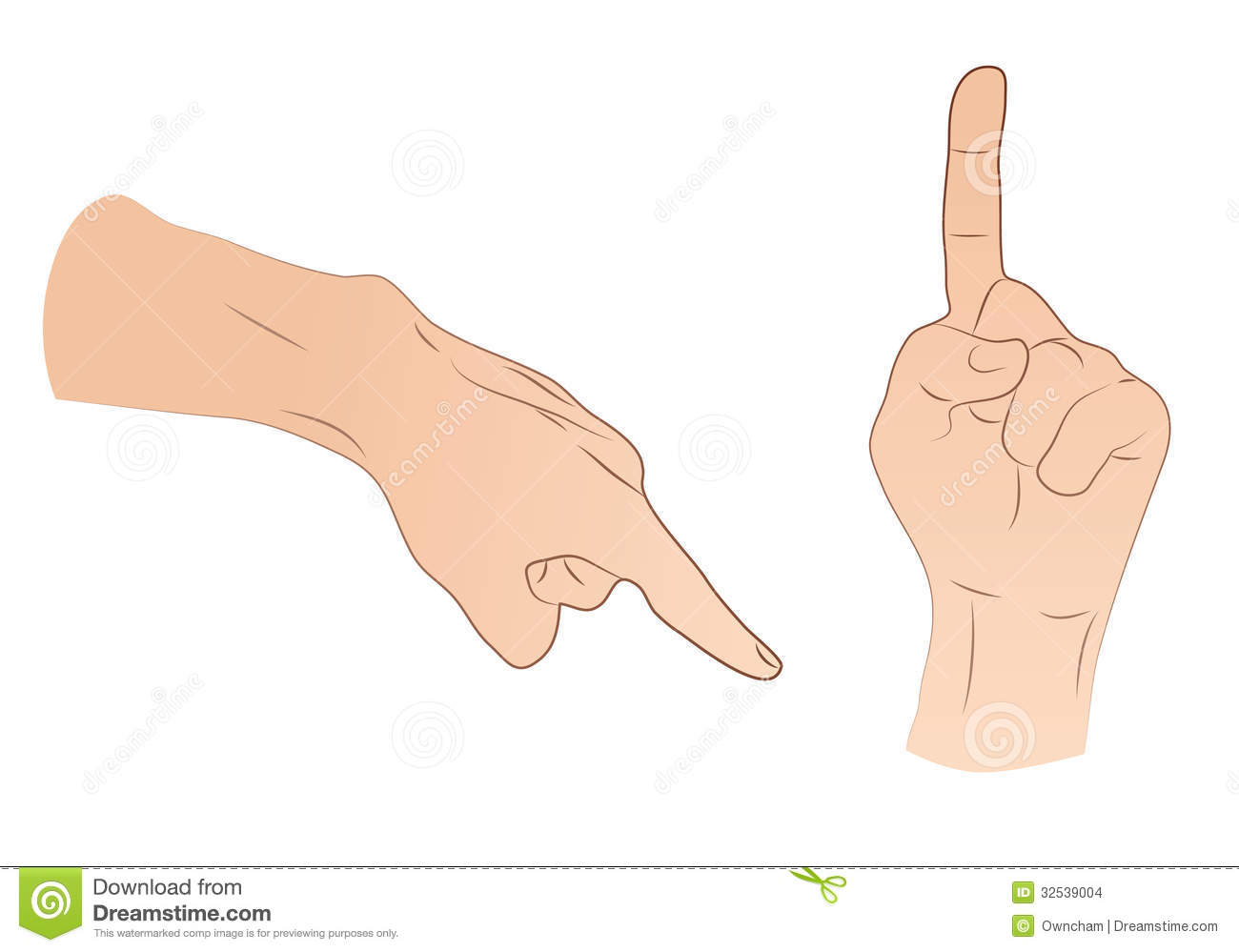 Pointing Hands Stock Images.