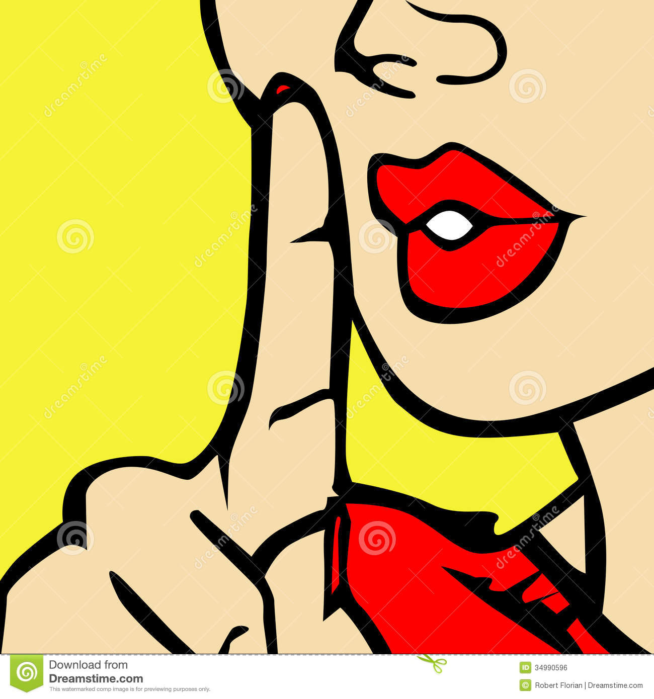 Finger To Lips Clipart.