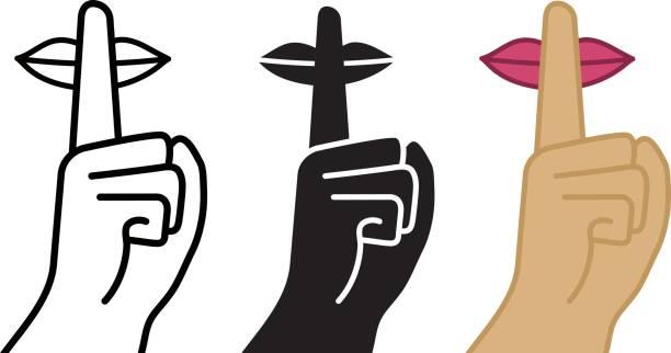 Best Finger On Lips Illustrations, Royalty.