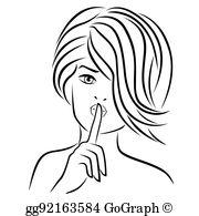 Finger On Lips Clip Art.