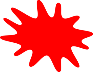 12 Finger Red Paint Splatter Clip Art at Clker.com.
