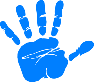 Five fingers hand clipart.