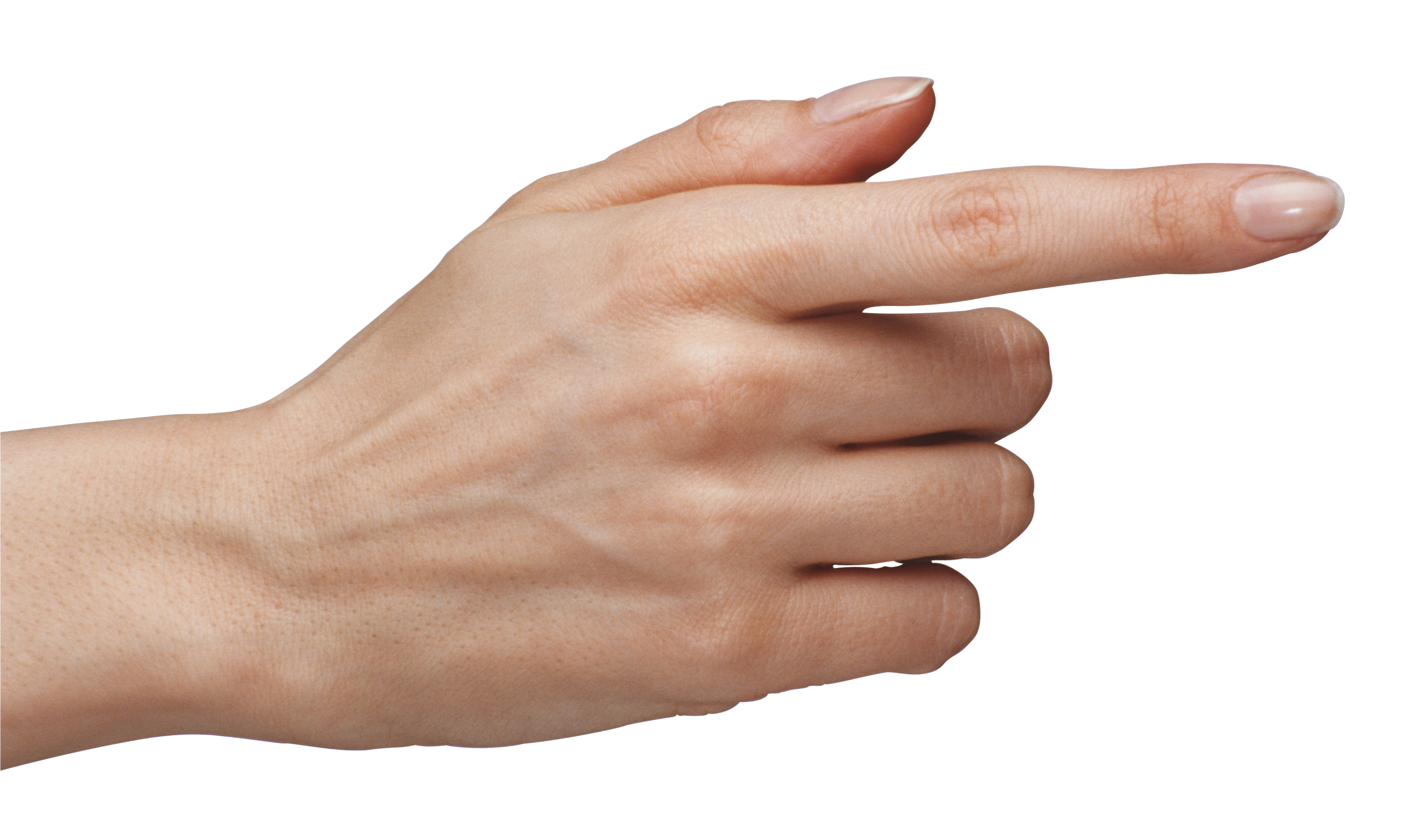 Tuching Hand with Finger PNG Clipart Image.