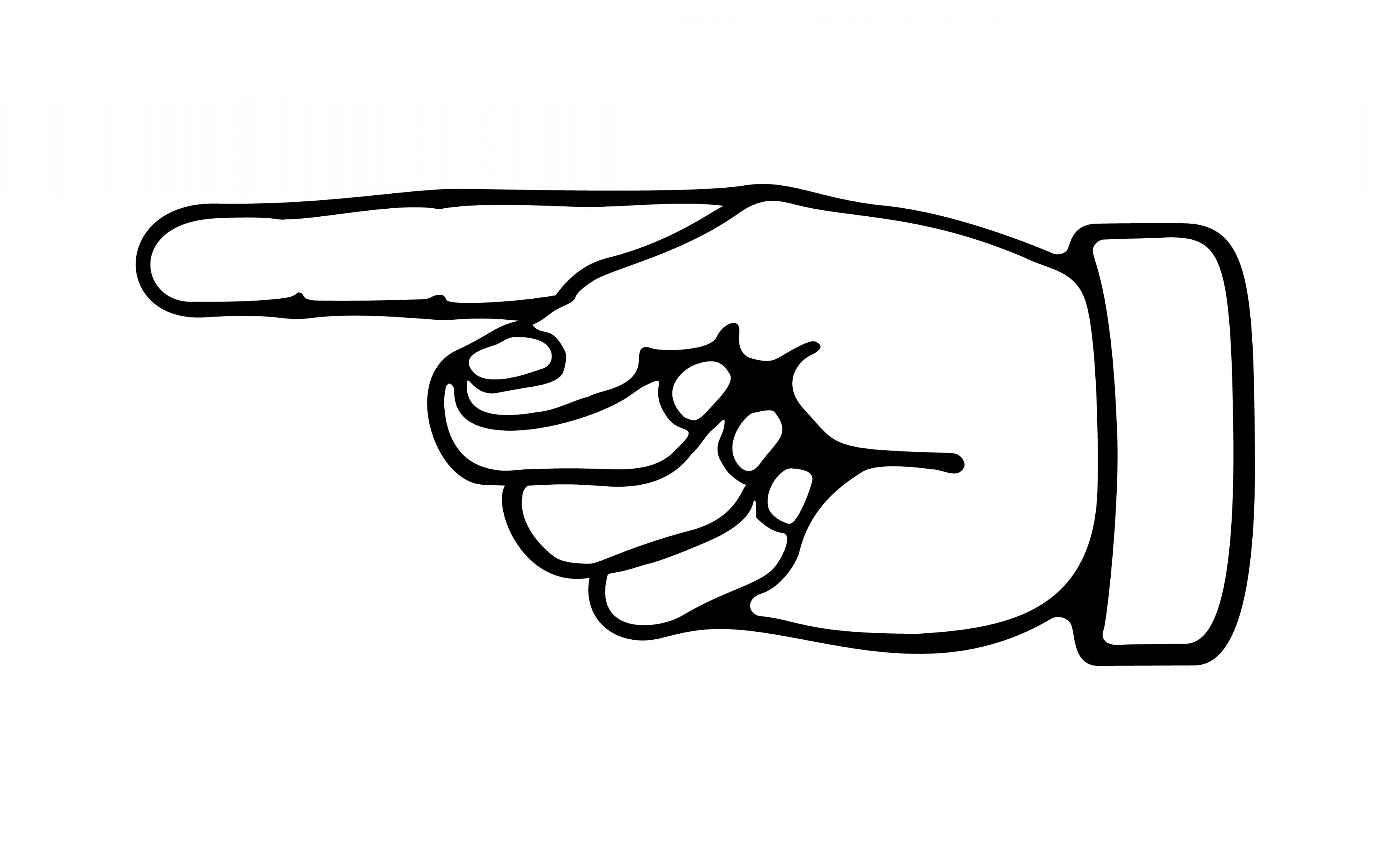 Pointer Finger Clipart.