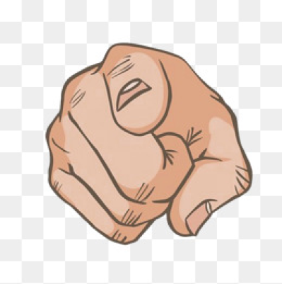 Finger Pointing PNG Images.