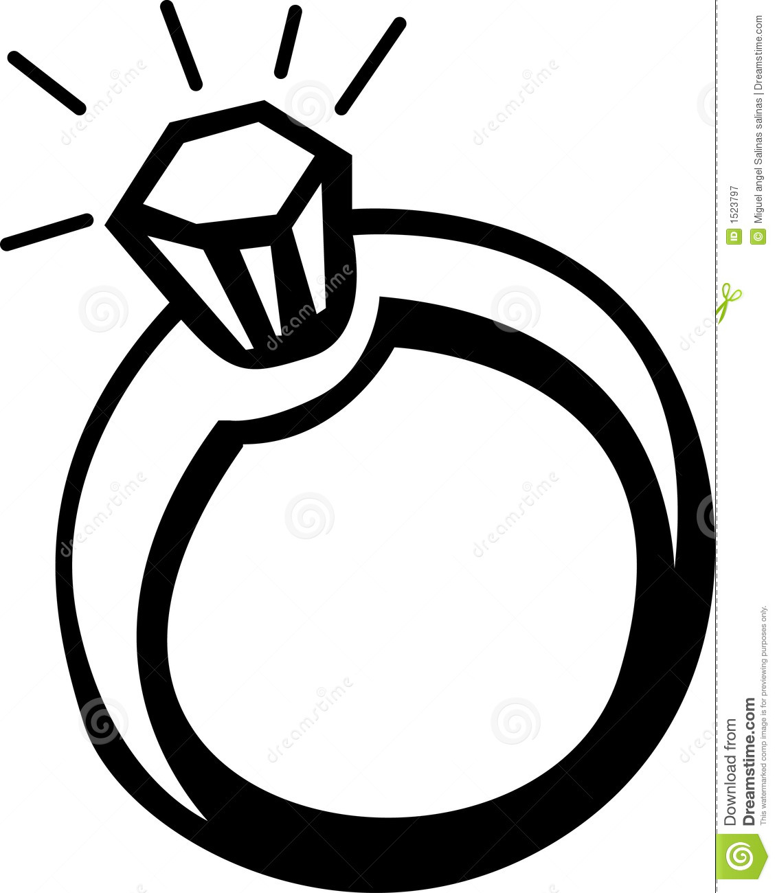 Ring clipart outline.