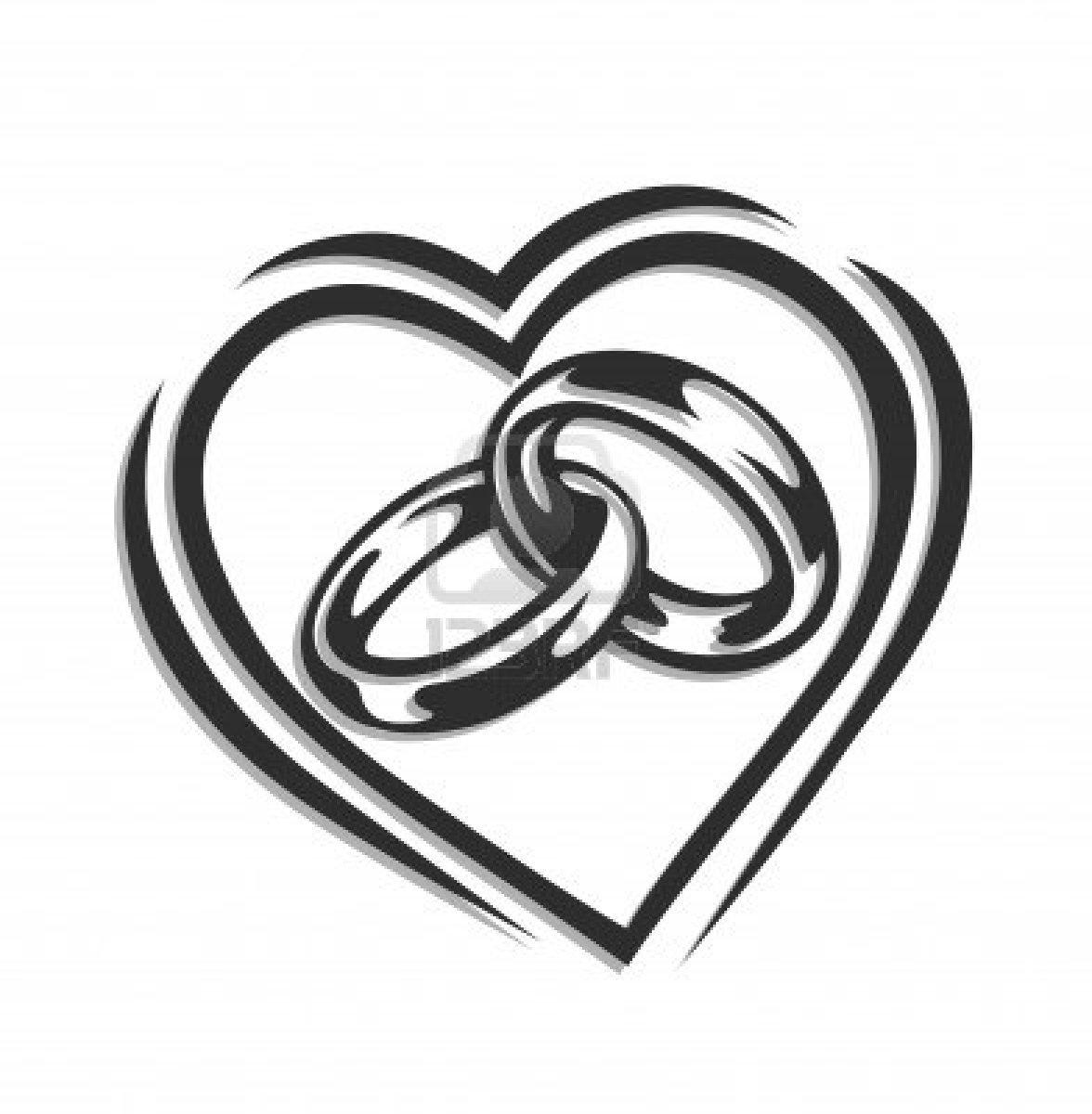 wedding heart clipart free gray #16