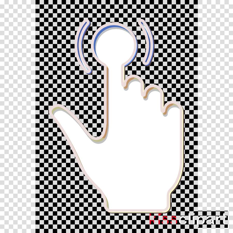 Hands icon Click icon Tap icon clipart.