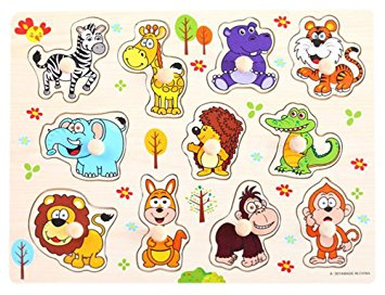 Zoo] Finger Training Peg Puzzle Create Imagination Educational.