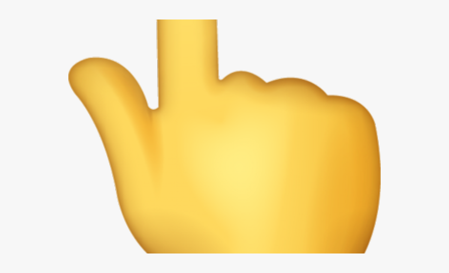 Hand Emoji Clipart Pointed Finger.