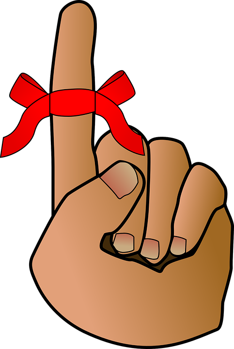 Finger With Ribbon Clipart & Free Clip Art Images #13306.