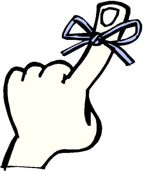 Finger with string reminder clipart free clip art images image #14037.