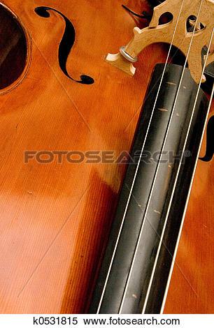 Stock Image of Bass Fingerboard k0531815.