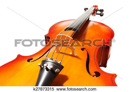 Stock Image of Violoncello with bridge, fingerboard and F.