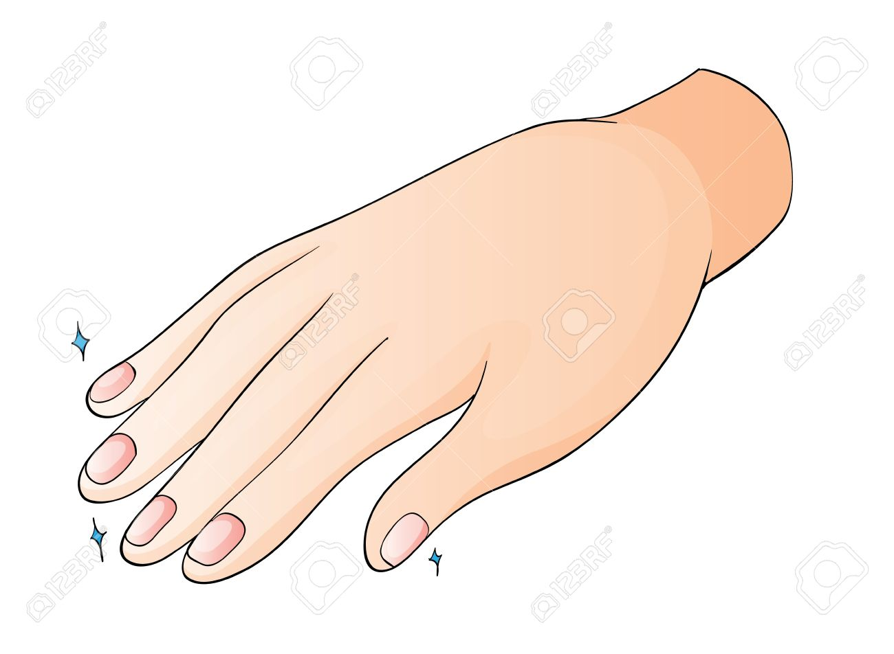Illustration Of A Hand On A White Background Royalty Free Cliparts.