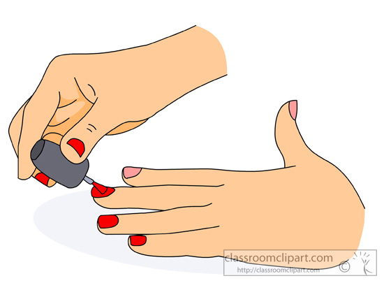 Painted fingernails clipart Clipground