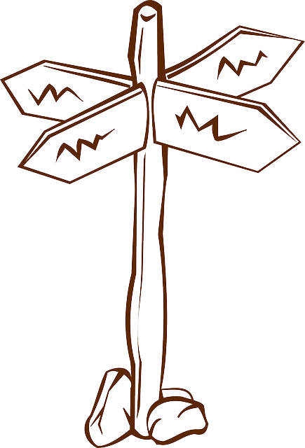 Free vector graphic: Fingerpost, Guidepost, Crossroads.