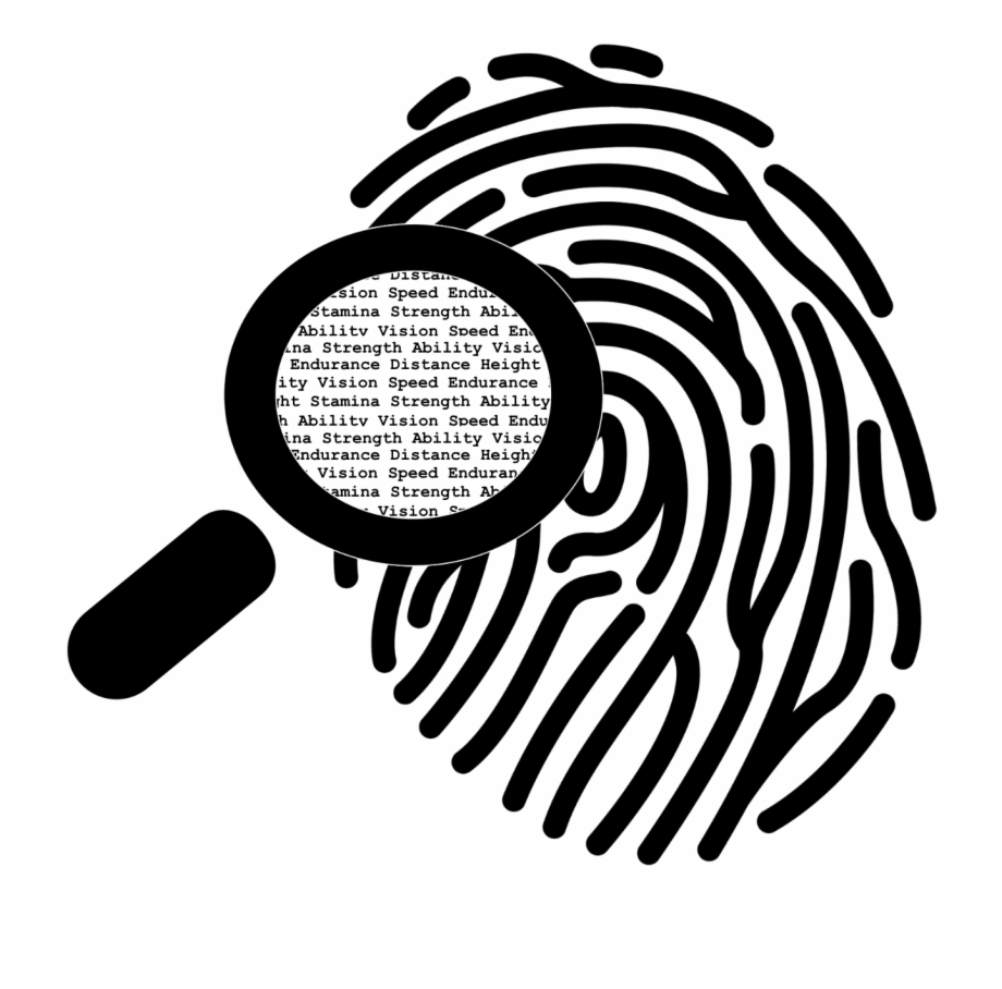 fingerprint clipart black and white #5