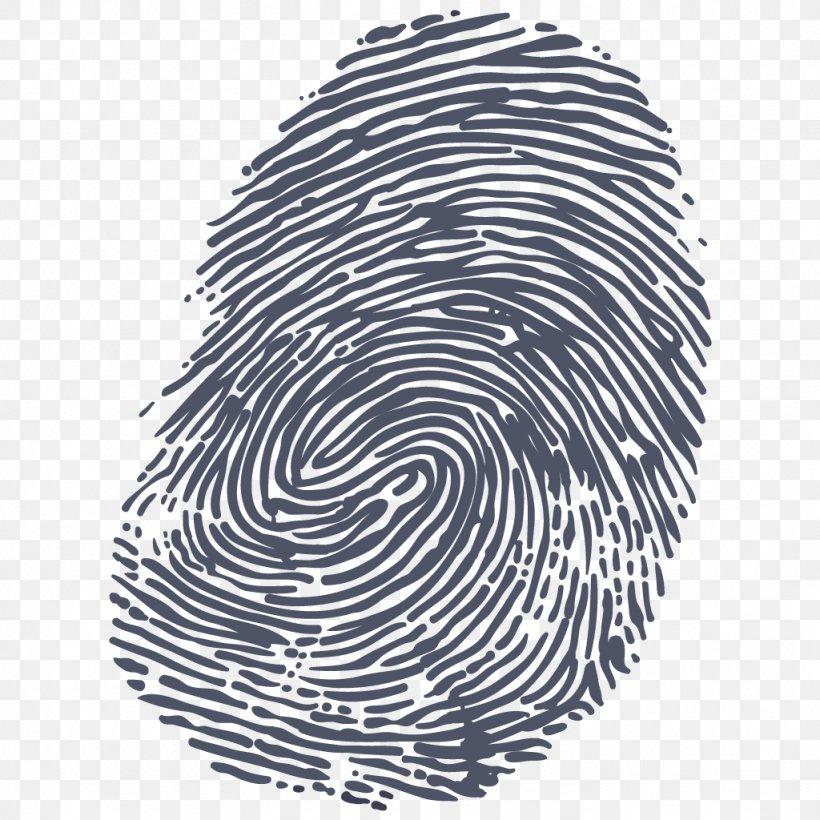 fingerprint clipart black and white #4