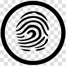 MetroStation, fingerprint icon transparent background PNG.